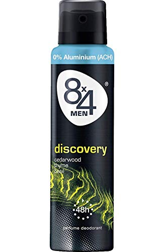 8x4 Men Deo Discovery Spray, ohne Aluminium, 150 ml