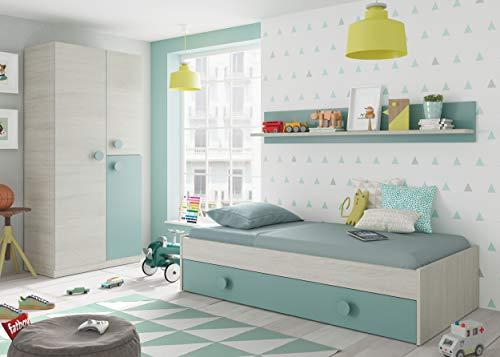 Habitdesign Youth Ausziehbett, 2 Betten + Dieses...