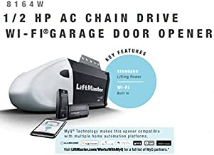 LiftMaster 1355 ( Replaced by 8164W ) Contractor Series 1/2 HP AC Chain Drive Wi-Fi® Garage Door Opener without Rail  …