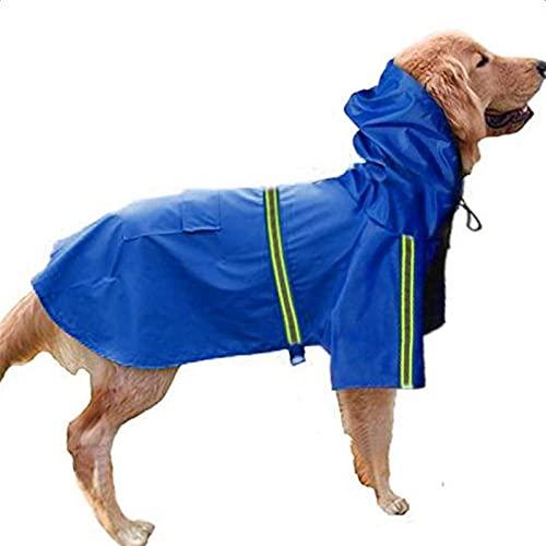 LDGS&TTW Perro Impermeable Chaqueta con Capucha Impermeable para Perros con Capucha, Reflectante, Chaqueta Impermeable para Impermeables, Adecuado para Perros pequeños, medianos y Grandes