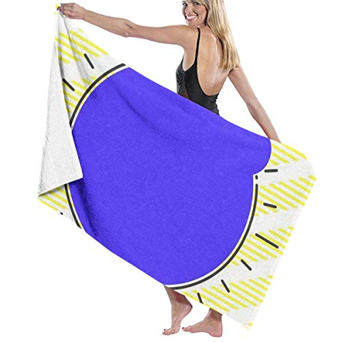 If Not Formato de Forma asimétrica Desigual Forma de Toalla de Playa Toalla de baño para Uso Diario Deportes al Aire Libre Viajes Nadar