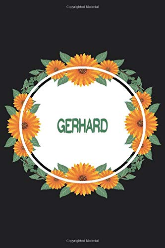 Gerhard: Personalized Notebook | Gerhard's Personal Writing Journal | Blank lined notebook | Note Taking for Gerhard