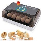 lovecabin Incubatrice per Uova, Incubatrice Automatica da 12 Uovo con LCD Display Digitale, Controllo della Temperatura E Funzione Automatica di Tornitura Dell'uovo, per Uova,Anatra,Quaglia