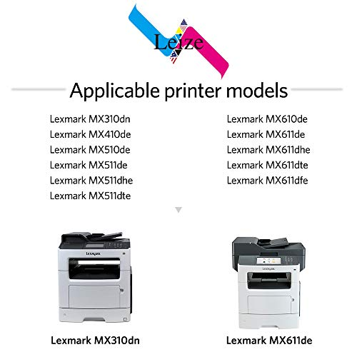 Leize Remanufactured Lexmark 601H 601 60F1000 60F1H00 Toner Cartridge High Yield 10,000 Pages use for Lexmark MX310 MX410 MX510 MX511 MX610 MX611 Printer, 1-Pack Black Photo #3
