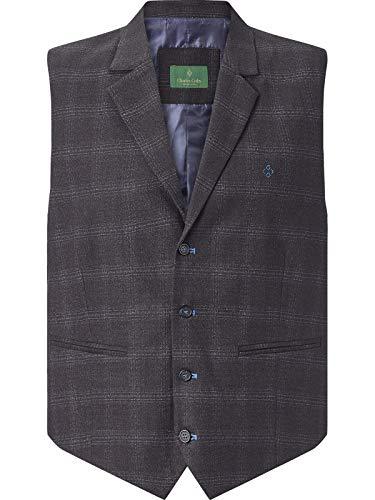 Charles Colby Herren Weste Duke Oscar (stillvolle Anzug Weste, Klassische Herrenweste) dunkelblau XL - 58