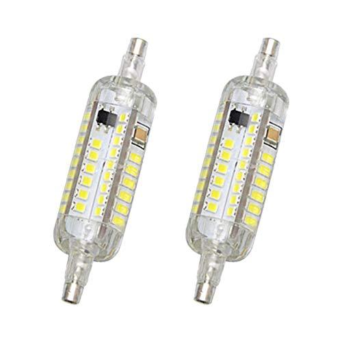 Bombillas LED R7S 78mm (Paquete de 2) de composición Doble J Tipo 118mm 10W Blanco Fresco 6500K 100W halógena Equivalente a Bulbo de composición Doble filamento R7S Tubo Reflector de Cuarzo,AC110-