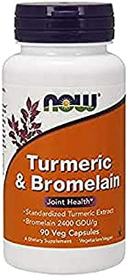 NOW Foods - Turmeric & Bromelain 90 vcaps