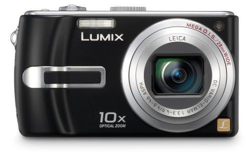 Panasonic DMC-TZ3 EG-K Digitalkamera (7 Megapixel, 10-fach opt. Zoom, 7,6 cm (3 Zoll) Display, Bildstabilisator) tiefschwarz
