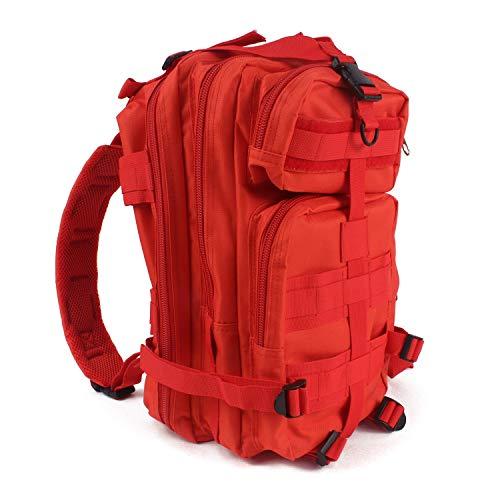 MediTac Tactical Assault Pack Erste-Hilfe-Rucksack – 45,7 cm Militär MOLLE-Rucksack, rot