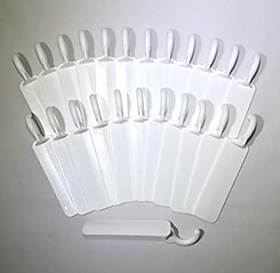 Alumahangers Flat (24Pk) for Insulated roof patios.Durable Plastic Alumahooks are Designed for Most Aluminum Patio Covers. Use for Lightweight Hanging Like String Lighting - Chimes - Holidays