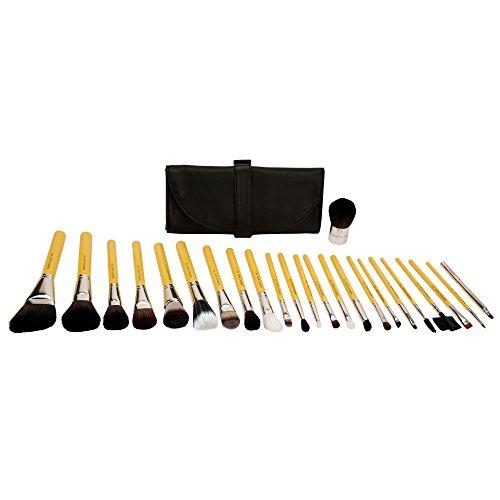 Bdellium Tools - Set di 24 pennelli professionali antibatterici per il trucco, con sacchetto arrotolabile