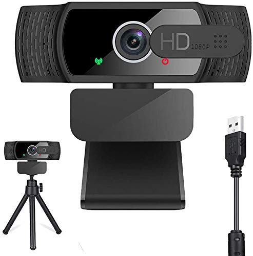 Webcam PC Full HD 1080P con Micrófono Estéreo, Webcam Port