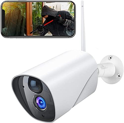 PC750 Überwachungskamera Aussen, 1080P WLAN IP Kamera mit PIR Bewegungserkennung, Wasserdichter und Nachtsicht, 2.4Ghz WiFi Outdoor Bullet Kamera, kompatibel mit IOS/Android