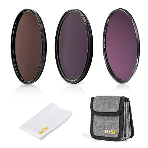 NiSi Kit Filtri ND Circolari 77mm, con ND8 (3 Stop), ND64+CPL (6 Stop), ND1000 (10 Stop), Accessori e Custodia
