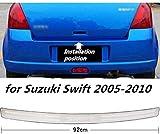 BNHHB Protector de Parachoques del Maletero del Coche para Suzuki Swift 2005-2017, Accesorios de decoración de Acero Inoxidable Alféizar del Maletero Trasero automático