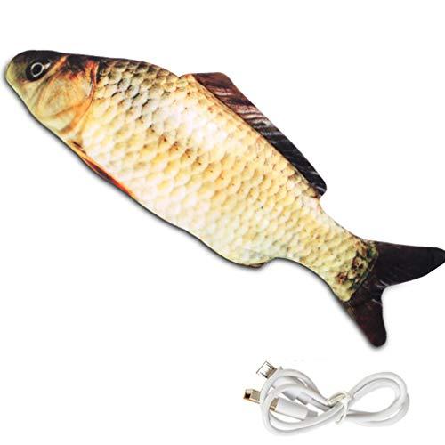 Binghotfire Pez de simulación Columpio eléctrico Pez saltarín Simulación de pez Mascota Gato Juguete Carpa Multicolor