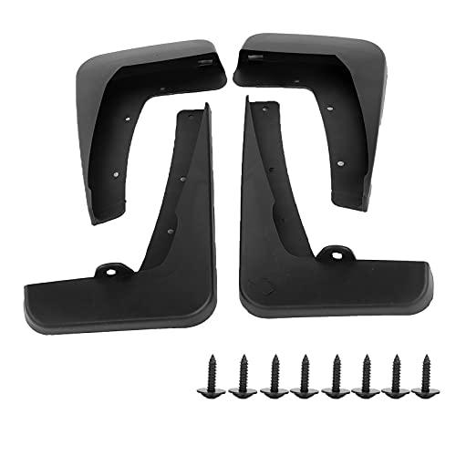 Akozon 4 piezas guardabarros guardabarros Mantenimiento de guardabarros de automóvil ABS Delantero trasero Reemplazo para 8 2011-2015