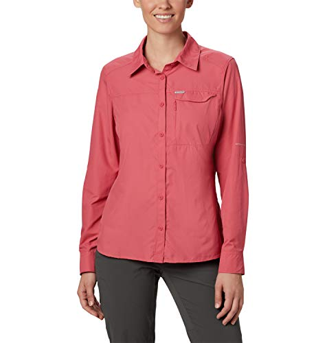 Columbia Langärmlige Bluse für Damen, Rosa (Rouge Pink), L