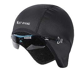 WESTGIRL bicycle cap, Skull Cap Bike Warm Cap for men women, windproof thermal fleece breathable, winter sport cap headgear for running, cycling, skiing