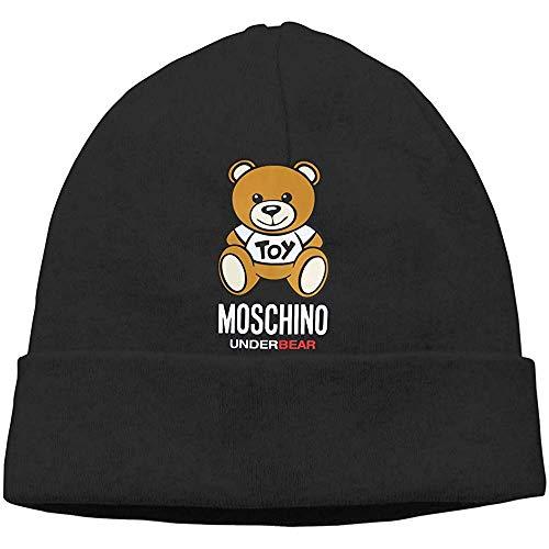 Moschino Unisex Trend Autunno/Winter Warm Hedging Cap Gebreid Zwart
