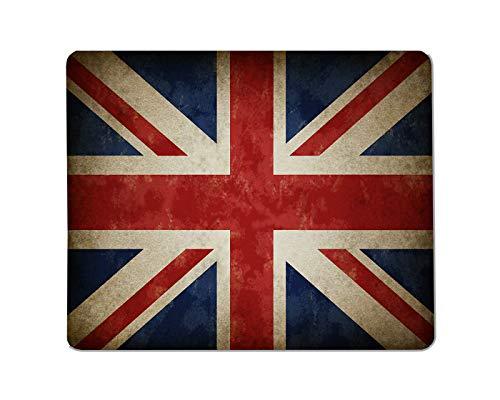Yeuss Britse vlag Rechthoekige Niet-slip Mousepad Groot Verenigd Koninkrijk oude vlag als een oude vintage Britse symbool van patriottisme en Britse cultuur Gaming muismat 200mm x 240mm