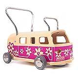 3 en 1 Andador + furgoneta + correpasillo Baloss FLOWER de madera violeta, Made...