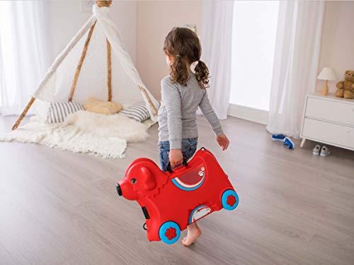BIG 800055350 – Bobby-Trolley, Kinderkoffer, Kindergepäck, rot - 10