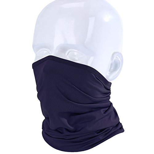 JIUSY Lightweight Neck Gaiter Neck Warmer Face Mask Windproof Anti-UV Protection Cover for Motorcycle Cycling Fishing Hunting Summer Outdoor Sports Suitable for Men Women Adults One Size Navy Blue