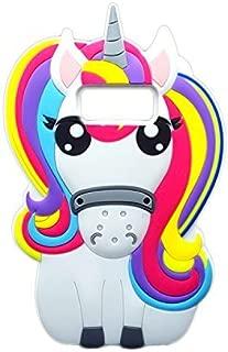 Rainbow Unicorn Samsung Galaxy S8 Case,Awin 3D Cute Cartoon Rainbow Unicorn Horse Animal Soft Silicone Rubber Case For Samsung Galaxy S8