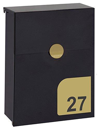 Arregui E6724-IRI Cassetta Postale, Nero-Iridium, Pequeño