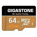 【5年データ回復保証】【Nintendo Switch対応】 Gigastone Micro SD Card 64GB マイクロSDカード 4K Game Turbo A2規格 95/35 MB/s 4K撮影 SDXC UHS-I A2 4K Class 10 アダプタ付 メーカー10年保証付