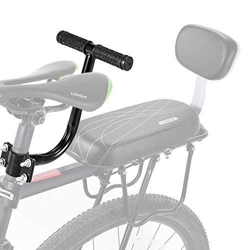 AUVSTAR Cojín para asiento trasero de bicicleta, asiento trasero de bicicleta de montaña, asiento trasero de bicicleta de montaña, asiento trasero de vehículo eléctrico,Black seat2