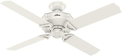 Hunter Indoor / Outdoor Ceiling Fan, with remote control - Brunswick 52 inch, White, 54180