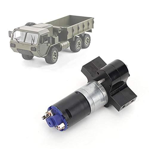 Dilwe RC Motor Getriebe, Metallverteilergetriebe mit Kühlkörper RC Upgrade Modell Spielzeug für WPL C14 C24 B14 B24 B16 B36(Schwarz)