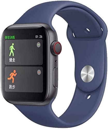 Fitness Tracker 1 - Pulsera deportiva de alta definición de 54 pulgadas (pantalla grande, multiesfera, teléfono inteligente, multifunción, Android e iOS, color azul