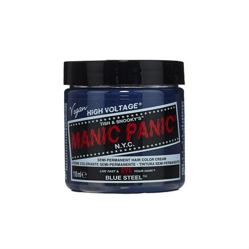 Manic Panic Classic Formula Semi Permanent Hair Color Cream, Blue Steel by Manic Panic