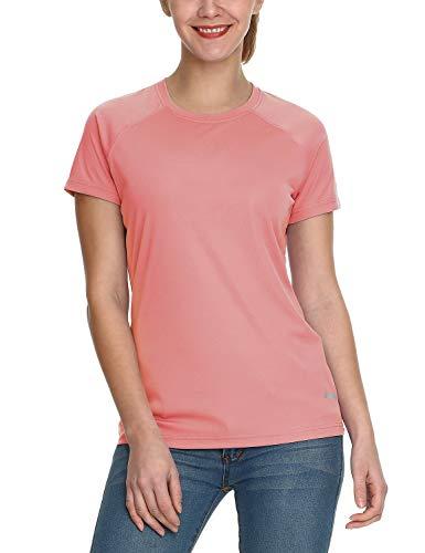 BALEAF Damen UV Shirt UPF Sonnenschutz Kleidung Kurzarm Rosa M