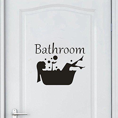 Snner - Adhesivo de vinilo extraíble para baño, decoración del hogar, habitación (A) LTLNB
