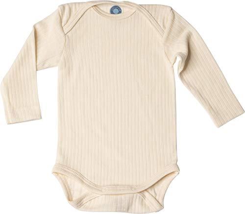 Cosilana, Baby Body Langarm,45% KBA Baumwolle, 35% kbT Wolle, 20% Seide (50/56, Natur)