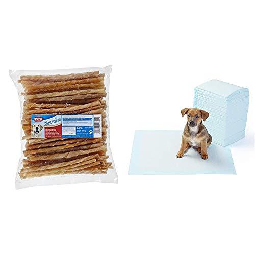 Trixie - Bastoncini 5 - 6Mm - Tx2615 & Amazon Basics Tappetini igienici assorbenti per animali domestici, misura standard, 100 pz