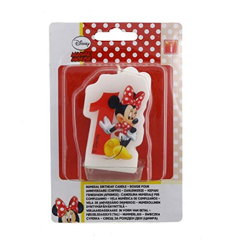 Partido Ênico Cafe Disney Minnie Mouse primera vela de cumpleaños