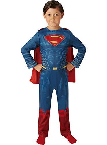 Superman - Disfraz Justice League Movie Classic infantil, multicolor, M (Rubie's Spain 640811-M)