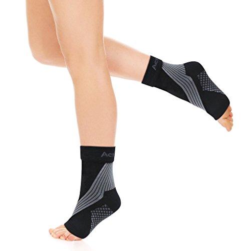 Sprunggelenksbandage, Kompressionssocken | Fußgelenkbandage/Achillessehnen-Socken bei Plantarfasziitis, Fuß- & Fersenschmerzen | Verbesserte Durchblutung bei Jogging & Ausdauersport | ActivSocks