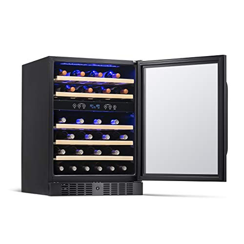 NewAir NWC046BS00 Wine Cooler, Black Stainless Steel