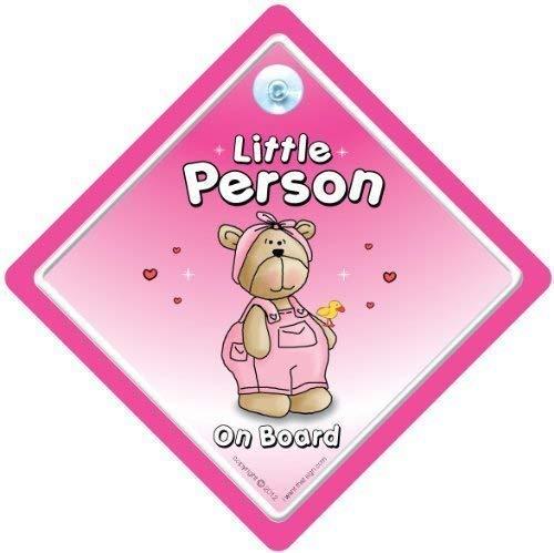 Little Person On Board, Cutie Rose, bébéà bord, autocollant, Sticker pare-chocs, signe, petit-enfant signe, grands-parents, voiture Panneau, signe, voiture pour bébé, signe, bébé pour bébé, signes, Grandad, Pops, Nanny, grands-parents