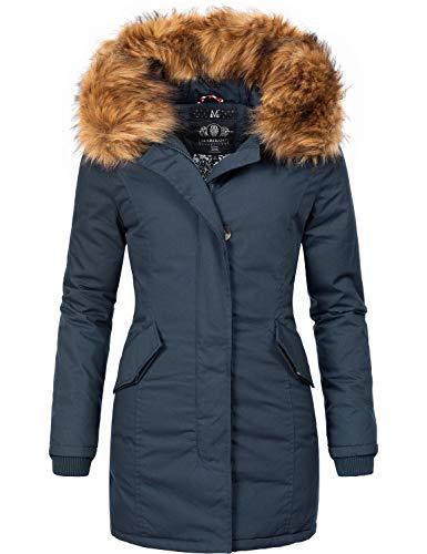 Marikoo Damen Winter Mantel Winterparka Karmaa-Prc Blau Gr. S
