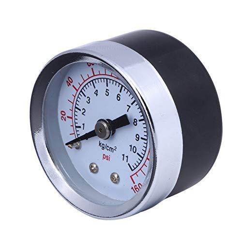 ADUCI 1pc 1/8' Medidor de presión del compresor de Aire Mini hidráulico de vacío manómetro de presión Tester 0-160 PSI Volver Monte 1.5' Dial Plate