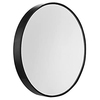 10X Magnifying Makeup Mirror Round Mirror 2 Suction Cups Facial Makeup Cosmetic Absorption Shaving Home Makeup Travel Essential Diameter 3.46 inches