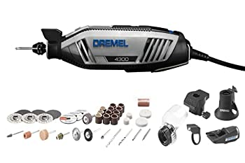 Dremel 4300-5/40 High Performance Rotary Tool Kit with LED Light- 5 Attachments & 40 Accessories- Engraver Sander and Polisher- Perfect for Grinding Cutting Wood Carving Sanding and Engraving