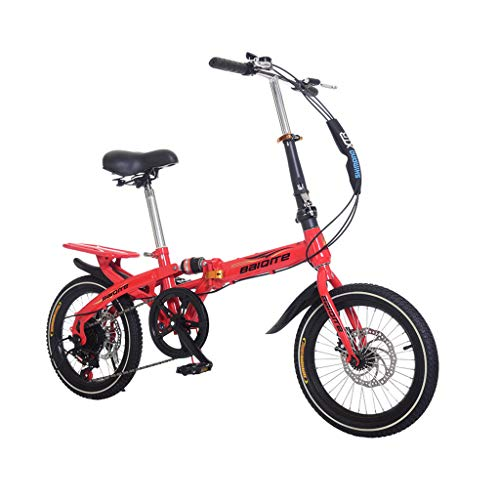 LEL 14 16 20 Inch Mountain Bike Dual Disc Brake Portable Compact Bicycle Student Bikes Mini Lightweight Folding Bike